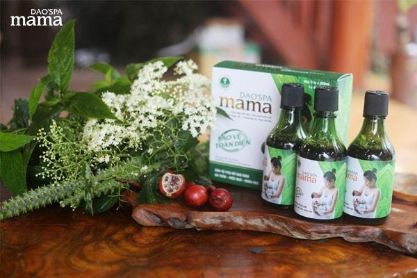 Nhờ chiết xuất 100% thảo dược thiên nhiên nên nước tắm sau sinh Dao'spa mama thực sự hiệu quả, an toàn cho phụ nữ sau sinh