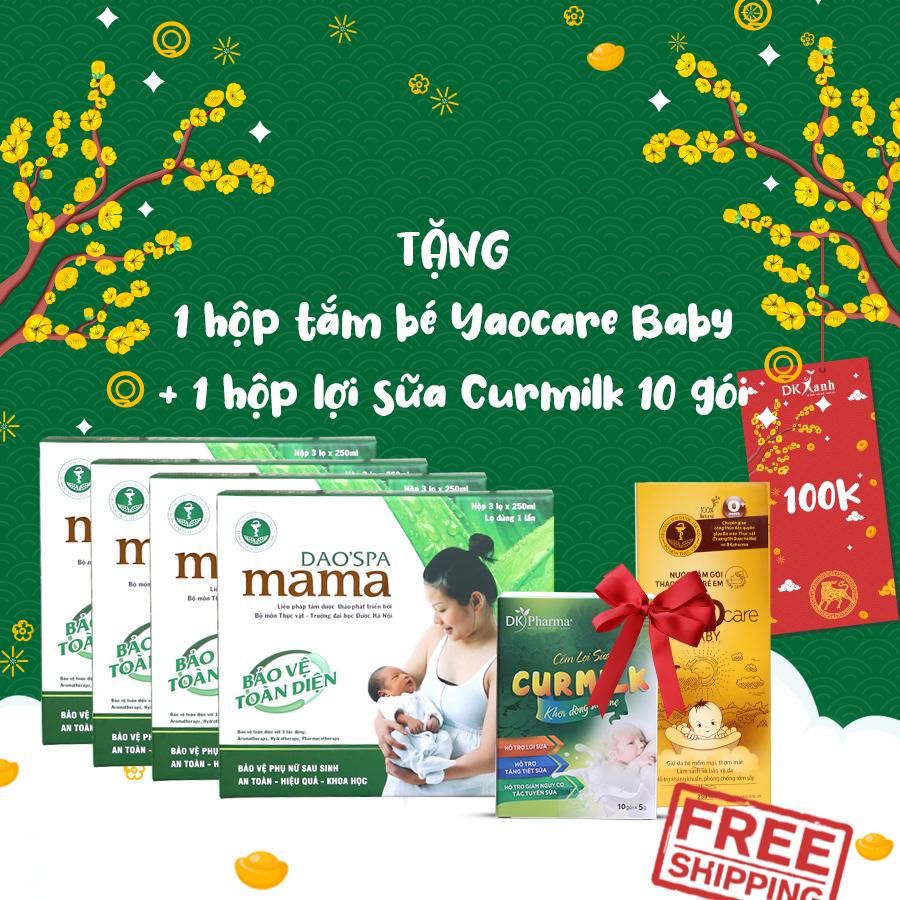 04 Dao'spa mama tặng Curmilk 10 gói + Yaocare baby + LÌ XÌ 100k (trừ trực tiếp vào đơn)