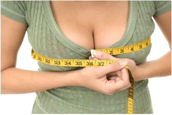 Vòng một tăng kích thước trong thời gian mang thai.
