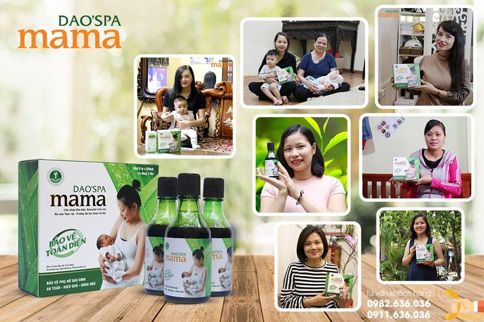 khách hàng yêu thích Dao'spa mama