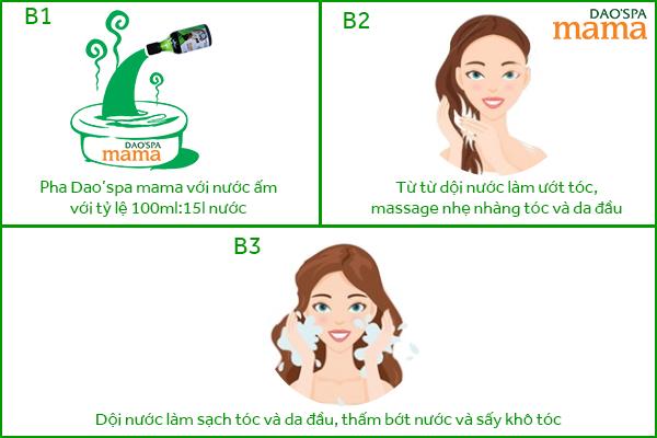 Cách dùng Dao'spa mama để gội đầu