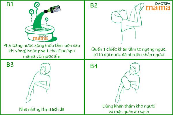 Cách dùng Dao'spa mama để tắm