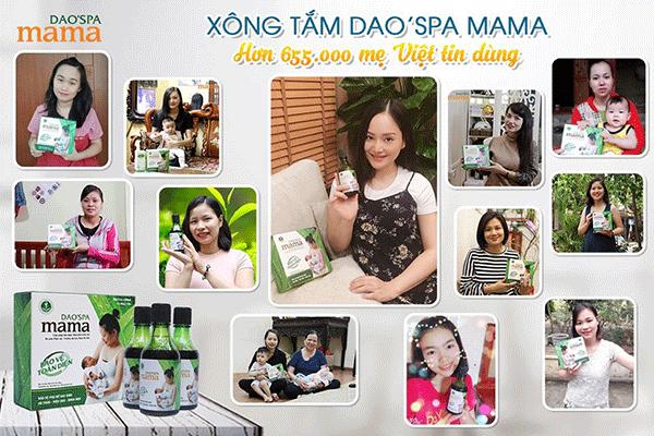 Nước xông tắm thảo dược chuyên biệt cho mẹ sau sinh Dao'spa mama đã các chuyên gia sản khoa hàng đầu khuyên dùng