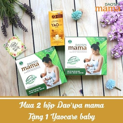 Mua 02 DAOSPA MAMA tặng YAOCARE BABY