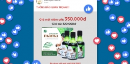 Dao'spa mamaáp dụng tăng giá sản phẩm từ 01/04/2021